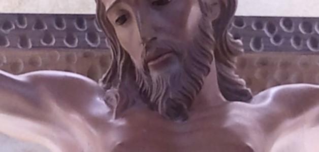 El nuevo Cristo parroquial.